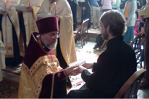 Photo of service for Holy Unction